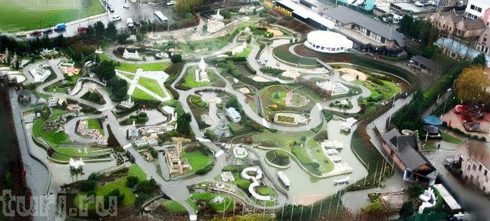 Бельгия, Брюссель, парк Мини Европа, парки мира, парк миниатюр, достопримечательности Бельгии, Атомиум