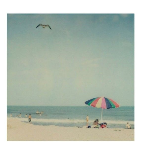 a day at the beachIrene Suchocki, Beach Polaroid, Vintage Holiday, Beach Ready, Vintage Summer, At The Beach, Beach Umbrellas, Beach Photographers, Beach Life