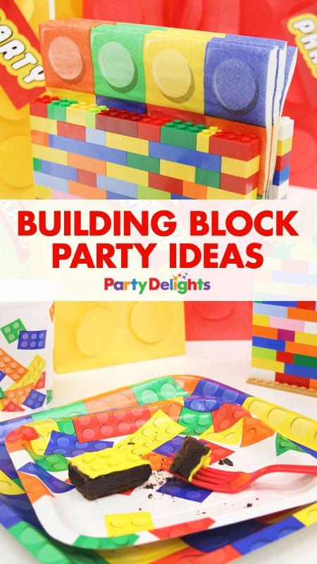 Building Block Party Ideas Lego DecorationsKids
