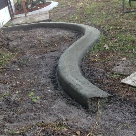 custom concrete curbing edging