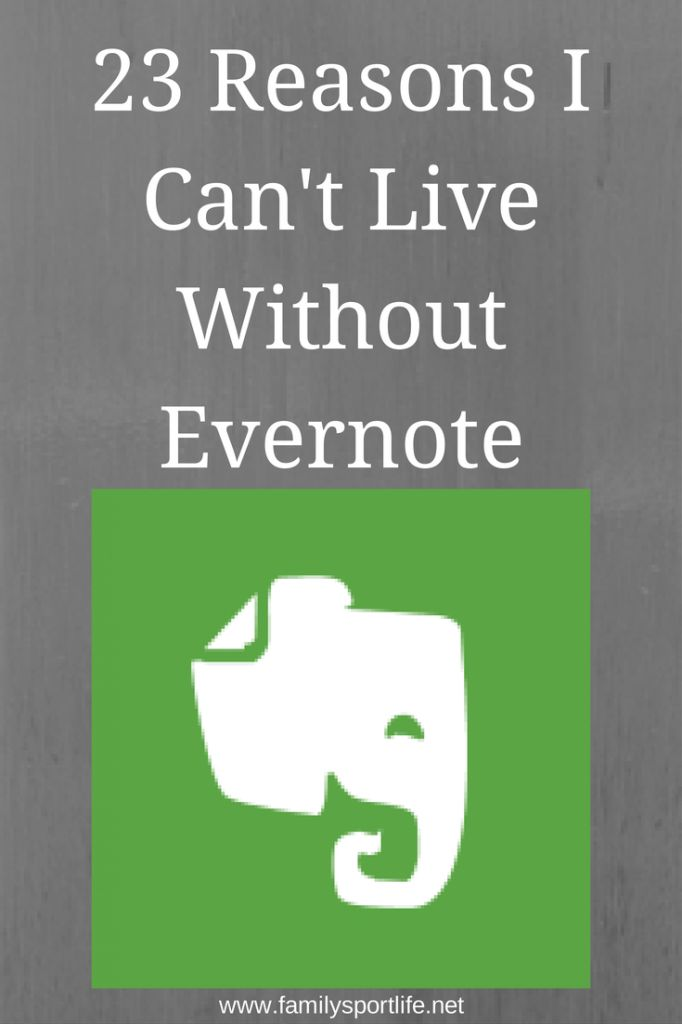 I don't currently use Evernote...but maybe I should. 23 Reasons I Can't Live Without Evernote via @familysportlife