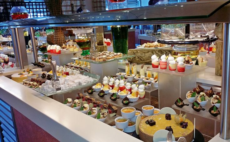 """Nice buffet in our main Restaurant """"Symposium"""""""