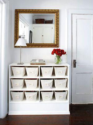 decorative bin storage