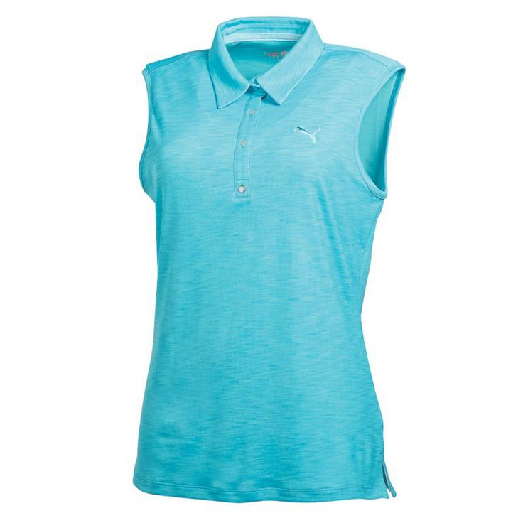 17 best images about womens puma golf apparel on pinterest for Sleeveless womens golf shirts