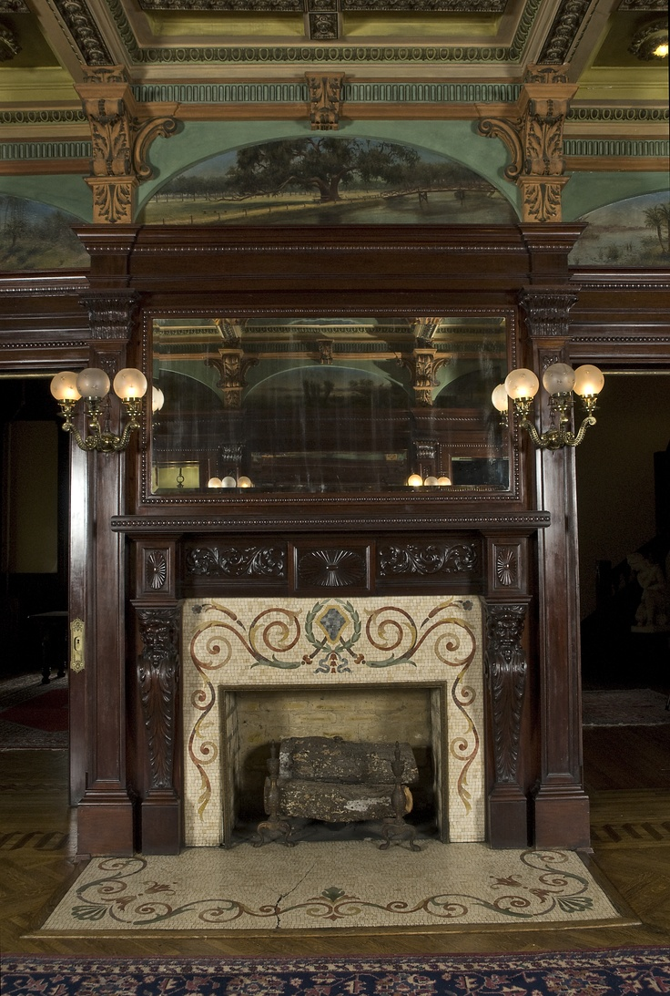 Fireplace and mantel in Rhodes Hall's Reception Hall (Photo Credit: Diane Kirkland)