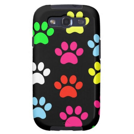 Colorful Pawprints Samsung Galaxy S3 Cases