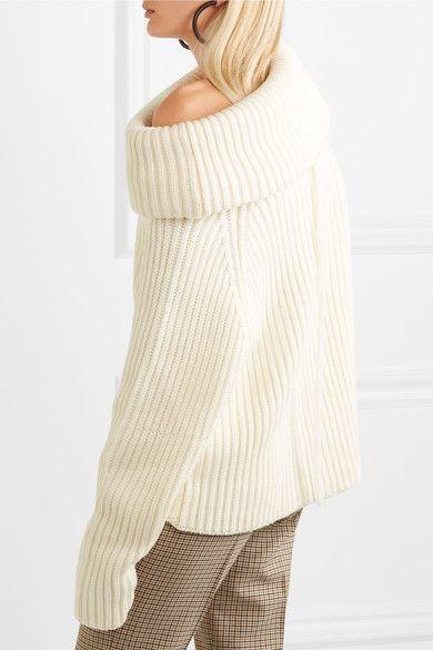 a89e9aeb32a1 Joseph - Oversized Ribbed Wool Turtleneck Sweater - Cream
