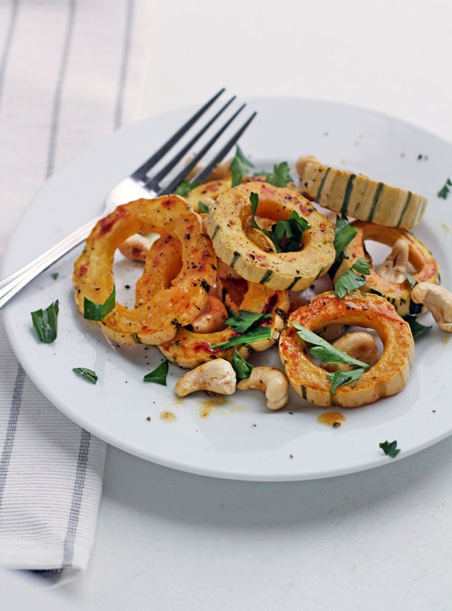 For the Love of Food: Delicata Squash Rings with Cashews and Sweet ...