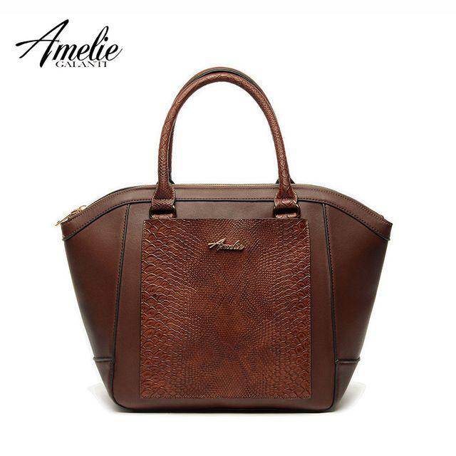 AMELIE GALANTI известный дизайнер сумки ретро сумка лоскутный змеиный молнии женщины сумки на ремне 4 цвета универсальный 2016 новый