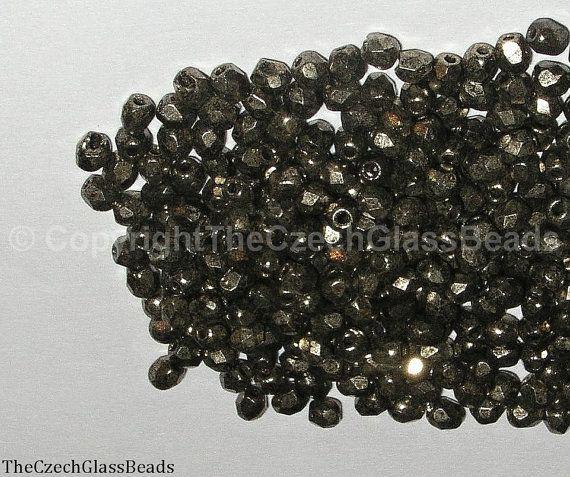 50g CZECH FIREPOLISHED BEADS 3mm 00030/18549