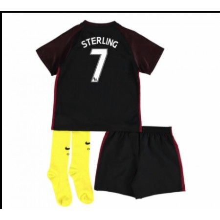 Manchester City Trøje Børn 16-17 Raheem #Sterling 7 Udebanesæt Kort ærmer.199,62KR.shirtshopservice@gmail.com
