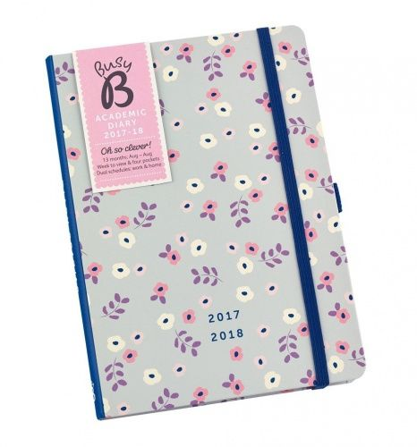 Busy B Floral Academic Diary 2017 to 2018