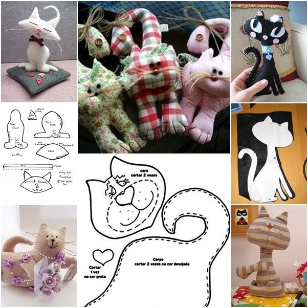 How to DIY Cute Fabric Kitty Cat from Template | www.FabArtDIY.com LIKE Us on Facebook ==> https://www.facebook.com/FabArtDIY