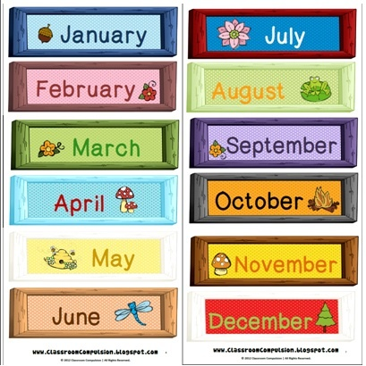 1000+ ideas about Month Labels on Pinterest | Writing topics ...