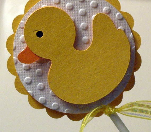 Rubber Ducky Cupcake Topper