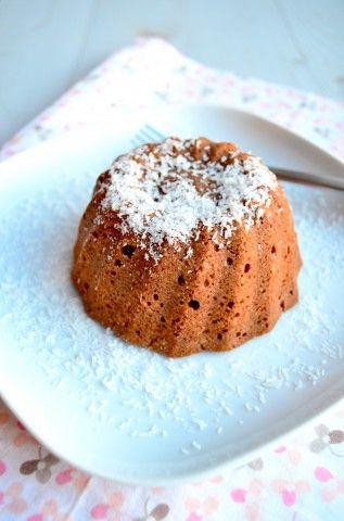 Warm chocolade taartje met kokos - uit Pauline's keuken