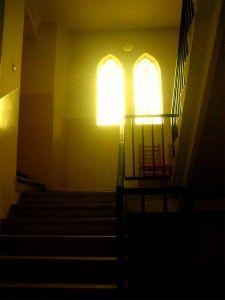 Naplemente, az egykori zsinagóga Tapolcán // Sunset, the former synagogue in Tapolca