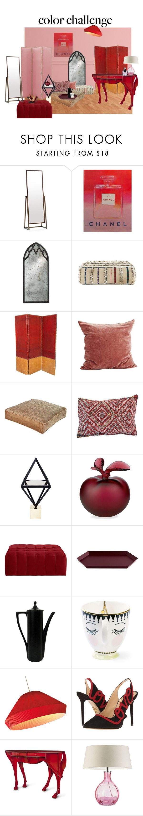 Home decor collage from january 2017 featuring currey company -  Polyvore_color Challenge Pink And Red By Cloibne Liked On Polyvore Featuring Interior