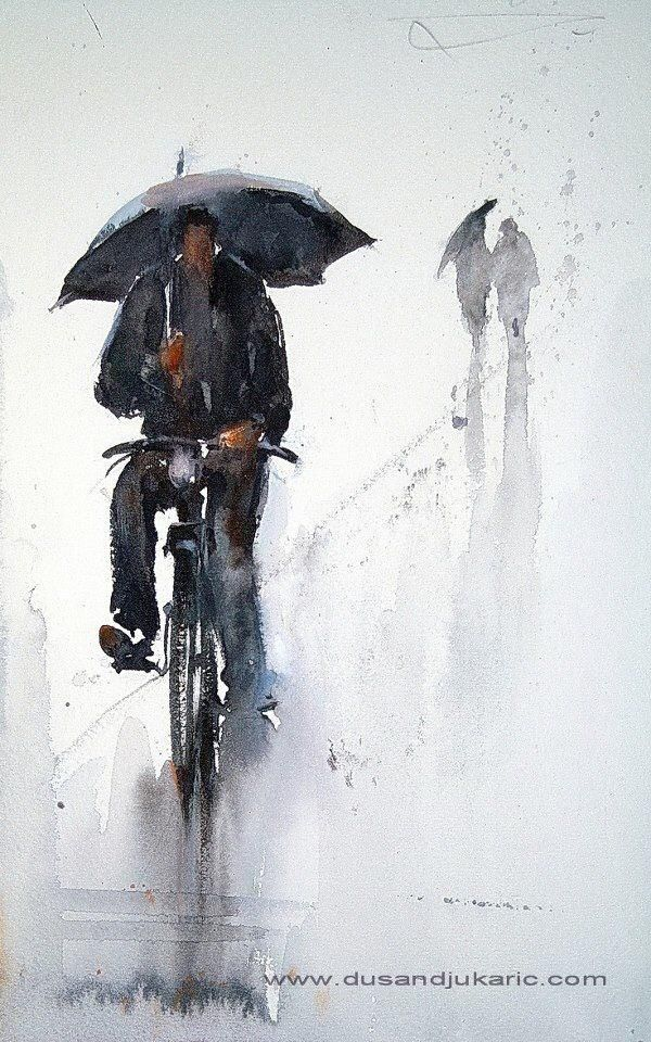 Cycling in the Rain by Dusan Djukaric and found on Spoke's Twitter stream. Rather apt for those of us in the Northern Hemisphere.