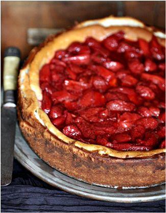 Baked quark cheesecake
