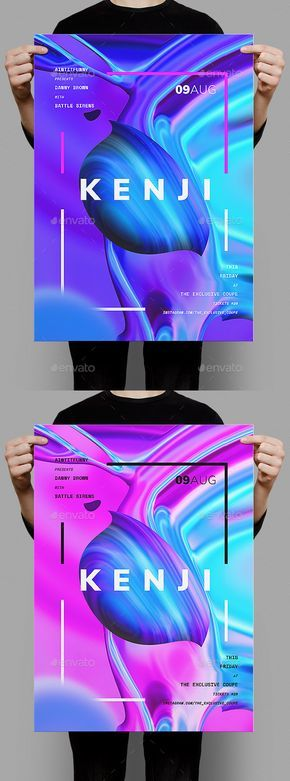 Kenji Poster / #Flyer Template – Clubs & Parties #Events Download here: graphicr…