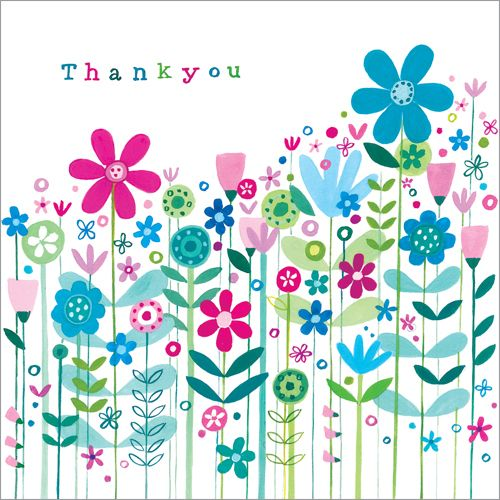 S217 Daisy Thank You card, available on my website www.nichola.cards