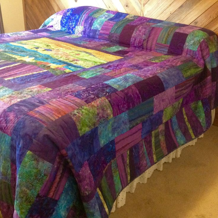 """'Kaleidoscope"""" created, pieced and FM quilted by Pat Hopf for Suzi and Cosmo (kingsize)"""