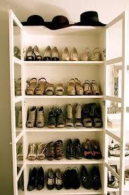 Bookshelf Billy from IKEA as shoe storage. Genius!