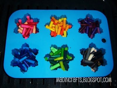 Cheap Kids Stocking Stuffer or Gift ~ MAD IN CRAFTS make your own  crayons or fix broken and busted crayons
