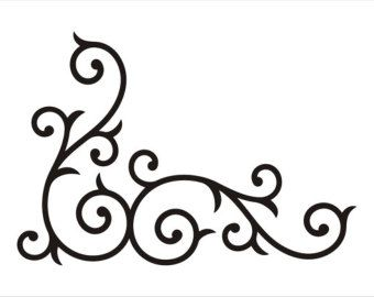 Wrought Iron Corner Swirl LARGE