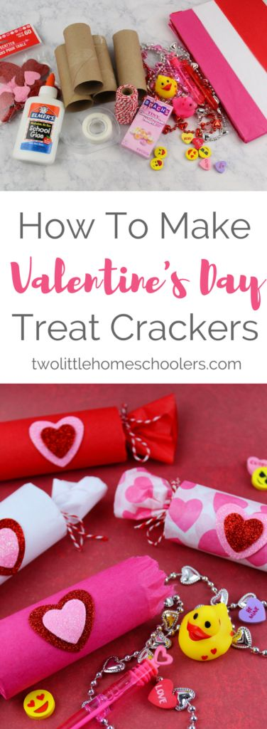 With Valentine's Day just around the corner, we've been in full-blown crafting mode around here. Today, I want to share these fun Valentine's Day Treat Crackers. They were super easy to make and (almost) mess free. The kids had so much fun making them.