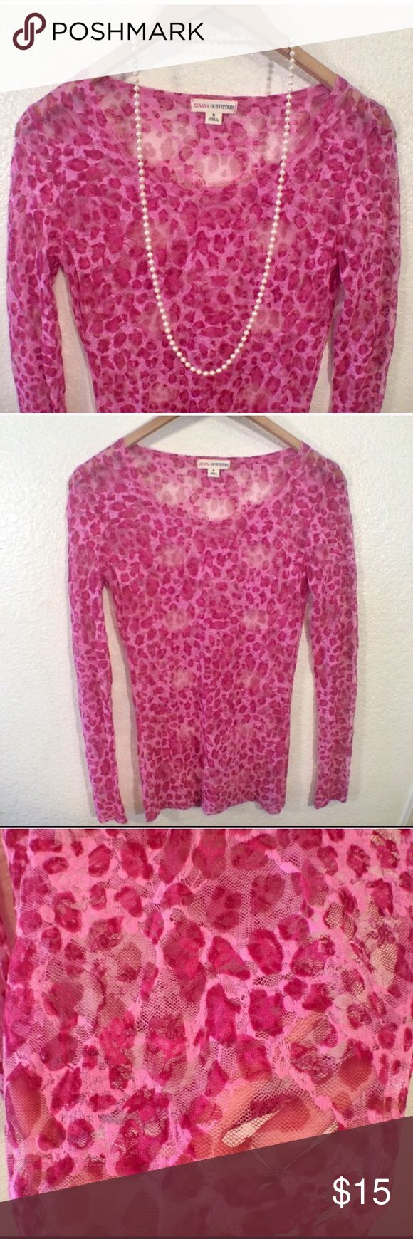 Pink leopard print bedding - Pink Leopard Mesh Top Super Cute