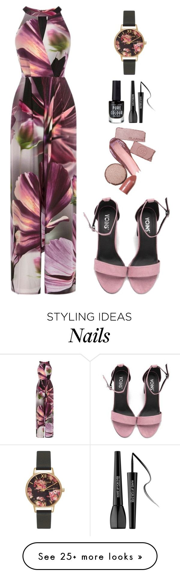 """Such A Beautiful Disaster"" by nuetralvibe on Polyvore featuring Coast, New Look, Olivia Burton and MAKE UP FOR EVER"