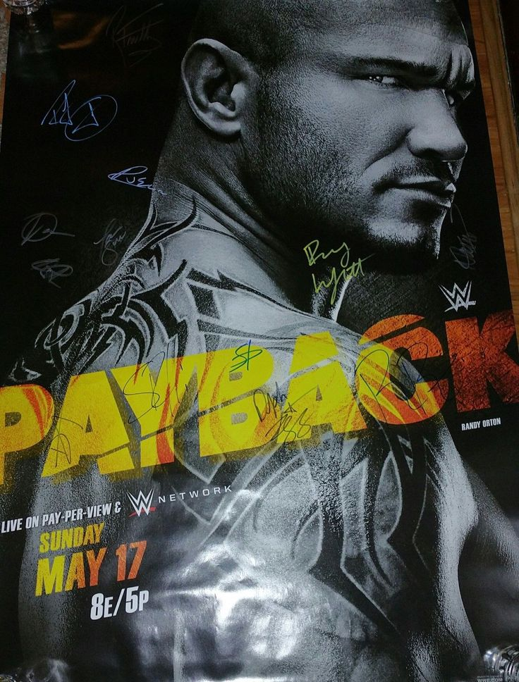 wwe payback signed ppv poster, randy orton, seth rollins, roman reigns + wcw ecw - http://bestsellerlist.co.uk/wwe-payback-signed-ppv-poster-randy-orton-seth-rollins-roman-reigns-wcw-ecw/
