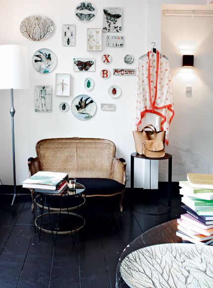 Vintage class by John Derian -- Unique wall art like the melamine plate arrangement and hanging garments bring a story into your living room decor. & 126 best Interiors-Wall Decor images on Pinterest   Arquitetura My ...