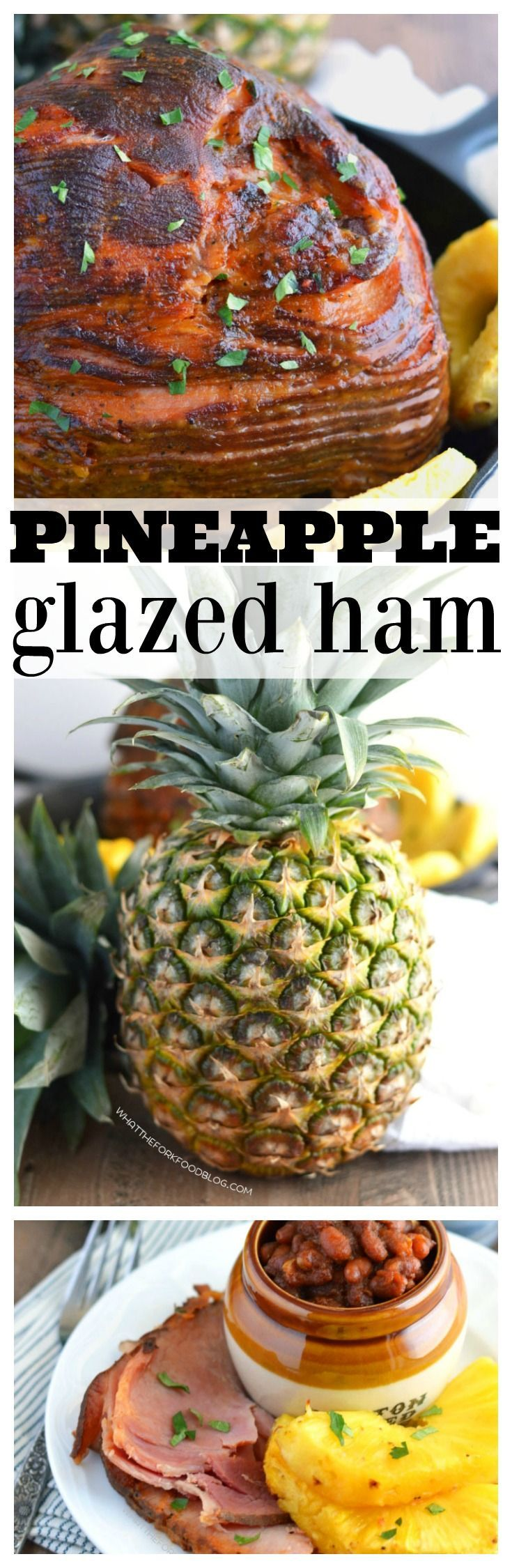 Pineapple Glazed Ham (gluten free and dairy free) from What The Fork Food Blog | whattheforkfoodblog.com | Sponsored by @delmontefresh