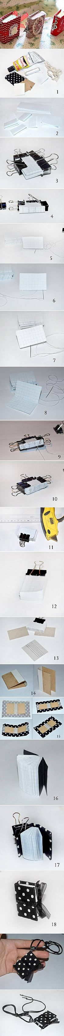 How to make Mini Notebook Pendant step by step DIY tuto…