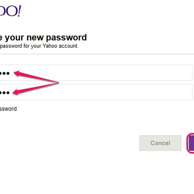 Use your new Yahoo password to access all of your secure Yahoo accounts.