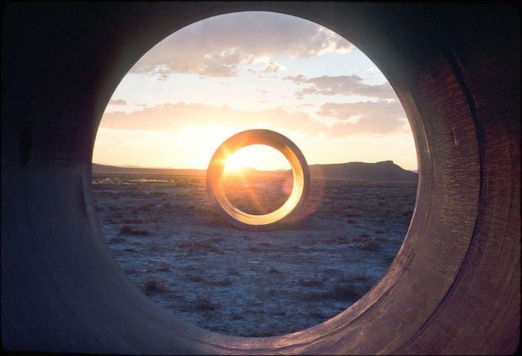 "Nancy Holt, ""Sun Tunnels"", 1976"