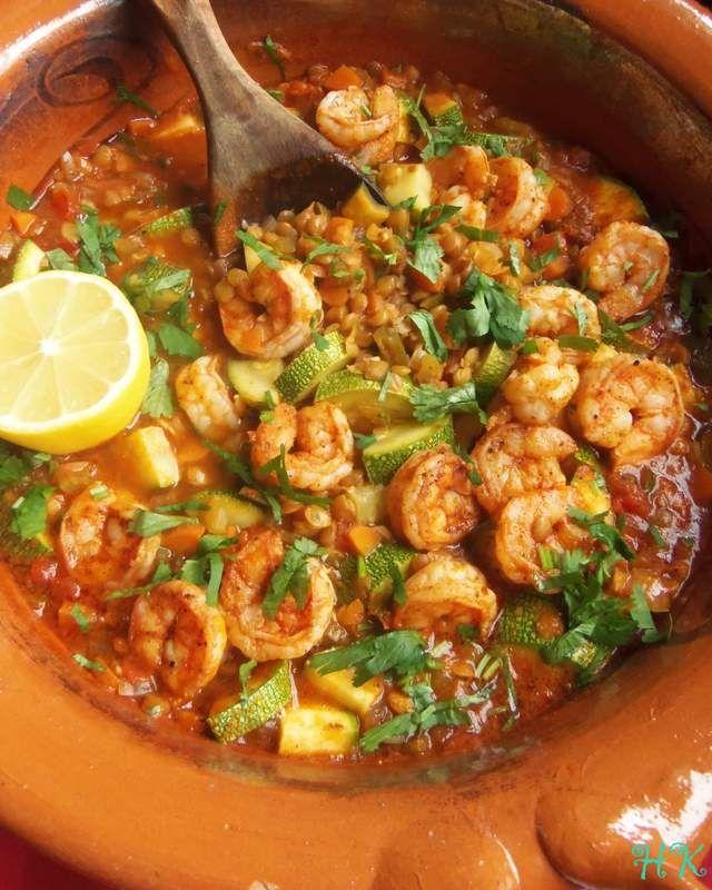 Lentejas Con Camarones y Calabacitas|Hispanic Kitchen February 2016 (Lentils with Shrimp and Squash)