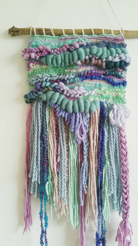 Woven Wall Art 'Orchid' - Fibre Art / Wall Hanging / Wall Decor / Weaving / Tissage / Whimsical Art