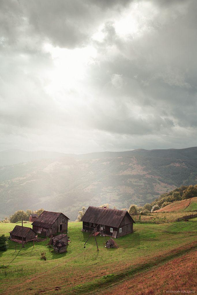 Village in the Ukrainian Carpathian Mountains