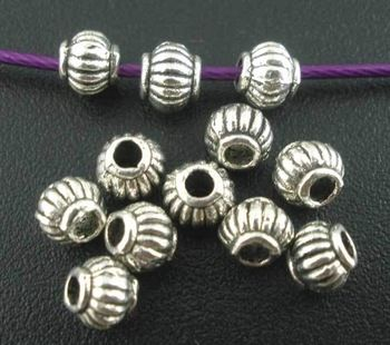 Free Shipping 300pcs Antique Silver Tone Lantern Spacer Beads 4MM Jewelry Findings