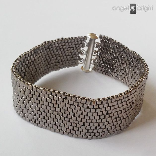 Bransoletka Srebrny Pasek HIT- zapięcie na magnes - Bizuteria-Angel-Brigt - Bransoletki