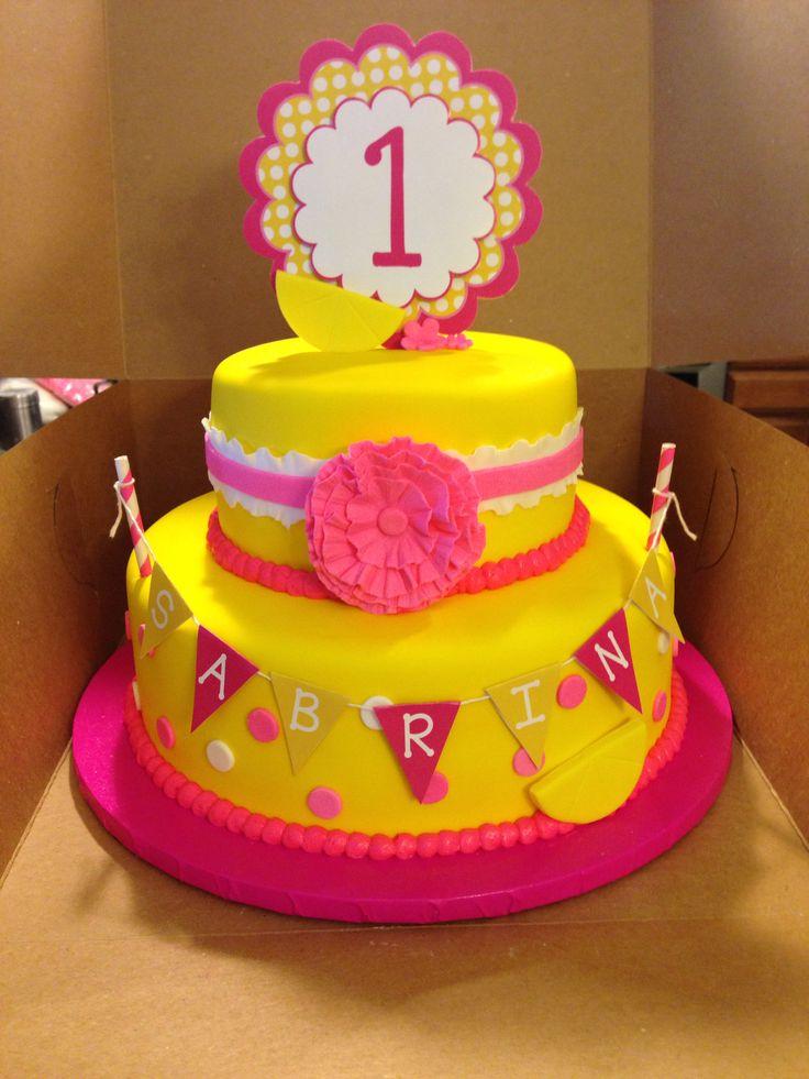 Pink Lemonade Themed Cake