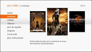 """Le service """"jeux vidéo"""" de la TV d'Orange - octobre 2012 : le cloud gaming débarque sur la TV d'Orange - février 2013 : le nouveau décodeur Livebox Play intègre 9 jeux dont 2 offerts : Asphalt6..."""
