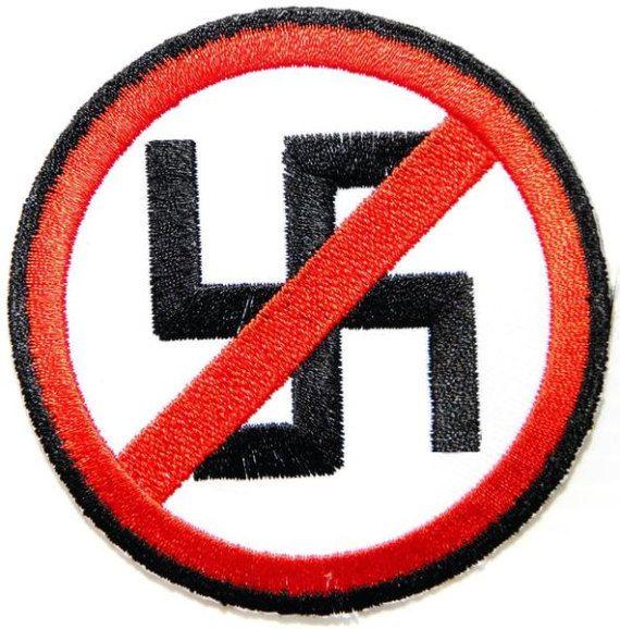 Anti Racism Anti Nazi Fascism Punks Embroidered Iron On Patch