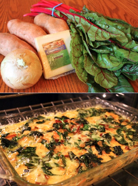 Swiss Chard And Sweet Potato Gratin Recipe — Dishmaps