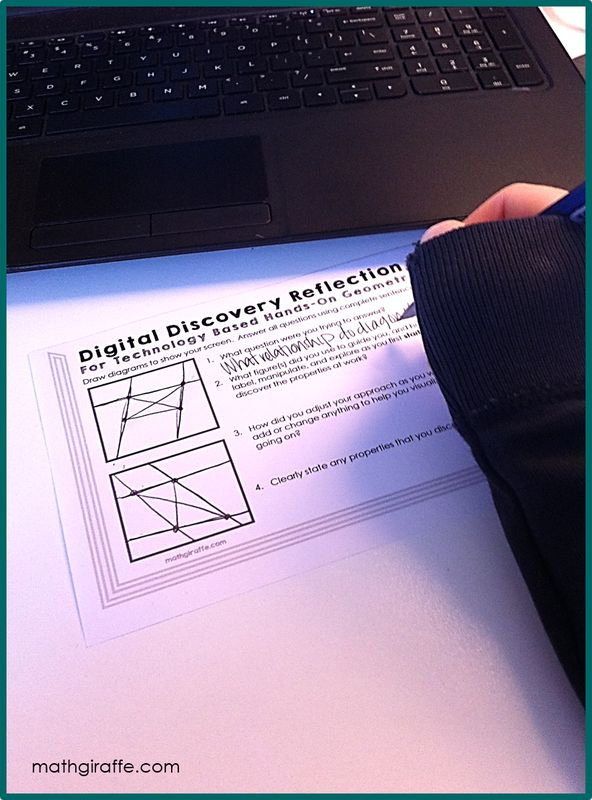 A Quick-Start Guide to Using free GeoGebra Geometry Software to let your students investigate geometric properties through hands-on digital discoveries -- with free printables!