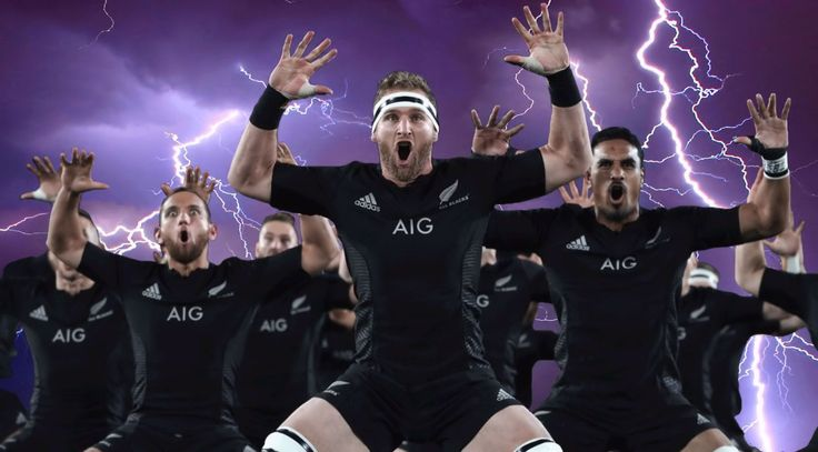 All Blacks Rugby Haka poster created by Gordon Tunstall using Adobe Photoshop…